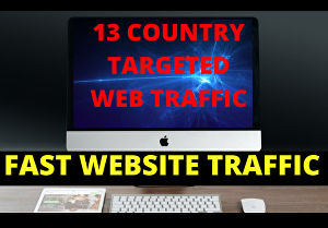 I will give  15k  real organic  web  traffic 13 countries targeted