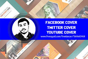 I will Design Facebook, Twitter, YouTube Cover, and Other Social Media Cover Designs