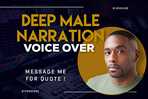 I will record a African American male voice over