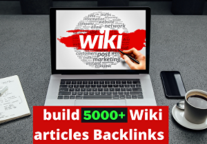 I will Manually build 5000 Wikipedia article Backlinks