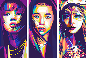 I will create your picture into awesome wpap pop art