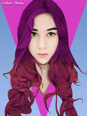 design an awesome portrait of people, animal, or another object in vector pixel style