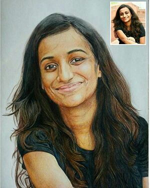 I will Do a Colored Pencil Portrait from Your Photo