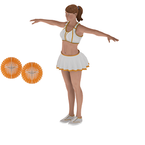 I will provide you cheerleading girl 3d character, model