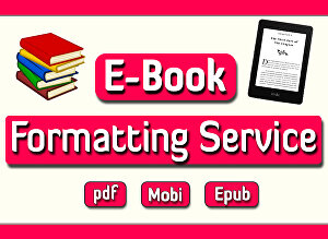 I will format and publish ebook and paper back on your amazon kindle kdp self publishing account