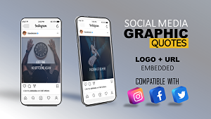 I will create Business Quotes, Grahic Quotes, Motivational Quotes with LOGO & URL for Ins