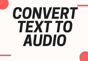 I will Digitally Convert Your Ebook to Audio Book