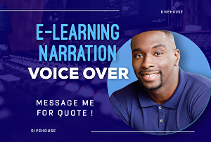 I will record a voice over for your e learning program