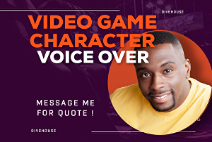I will record Video Game Character Voice Over