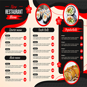 I will design restaurant menu, food menu and digital menu board