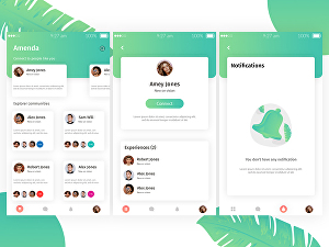 I will design modern ui ux for web and mobile apps