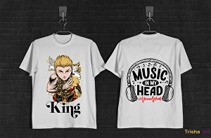 I will Create Trendy unique Tshirt Design with 24 Hours.