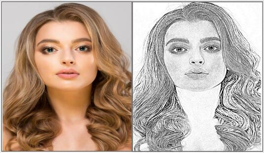 do pencil sketch portraits and images