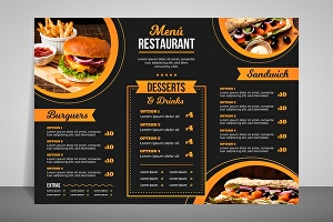 I will design a Food Menu for your Restaurants