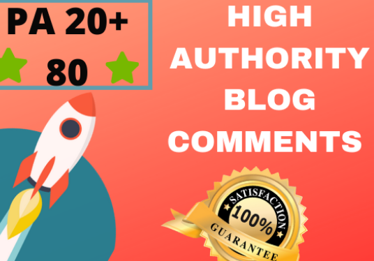 skyrocket your websites with 80 High PA/DA TF/CF Blog Comments