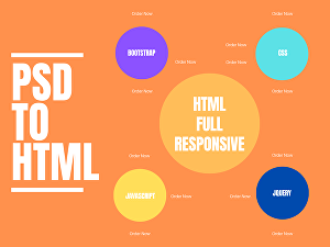 I will convert psd to html  responsive bootstrap 4