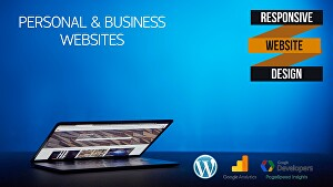 I will create a responsive website with wordpress