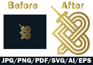 I will Edit logo with a transparent background and unlimited revisions