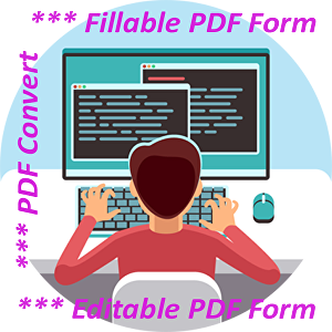 I will create a Fillable PDF Form