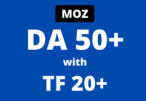I will increase your domain authority da 60 plus with tf 20 plus