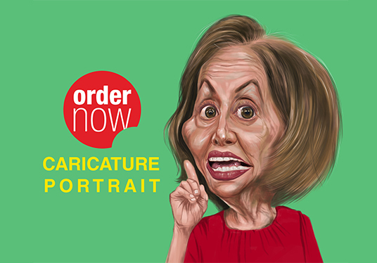 draw artistic cartoon caricature portrait from your photo
