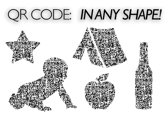 design a creative, unique qr code in shape of your choice