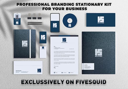 design a stationery pack for your business with 3 designs options