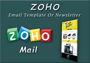 I will do Responsive Zoho HTML Email Template or Newsletter