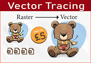 I will do vector tracing or convert image to vector illustration