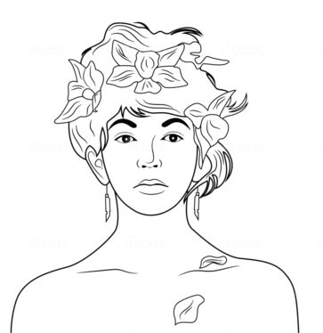 draw vector one line art illustration or silhouette