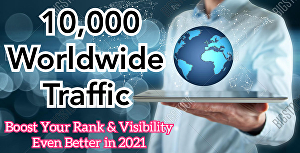 I will Deliver 10,000+ Targeted Worldwide Web Traffic To Your Sites Via Search Engines &