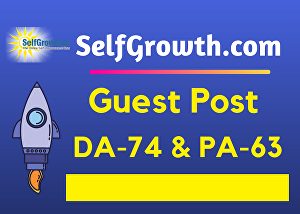 I will Write and Publish A Guest Post On Selfgrowth DA74 with Backlink