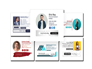 I will design and develop Responsive Clickable HTML email signature