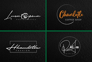 I will design calligraphy, handwriting, scripted and unique signature logo