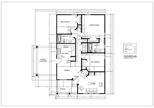 I will draw your architectural 2d floor plan using AutoCAD