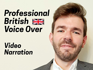 I will record a professional Voice Over Narration for your Video or Channel up to 100 words