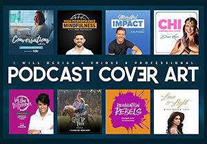 I will design a professional podcast cover