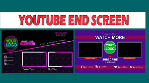 I will do youtube end screen and end card  video