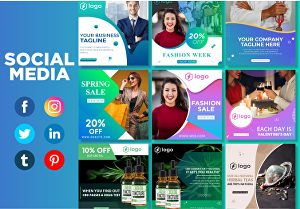 I will create social Media post for your facebook, instagram, youtube