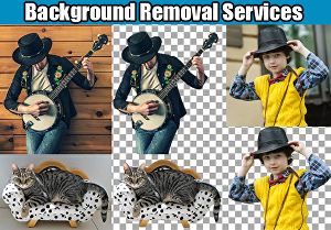I will do background removal or cut out images professionally