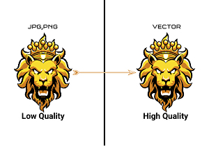 I will convert raster to vector or vector tracing manually