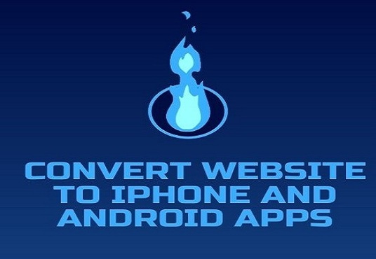 convert website to iPhone and android apps