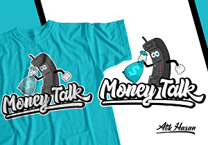 I will do custom typography t-shirt design and logo for brand and more