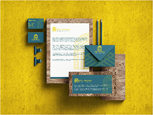 I will Do minimal business card with stationery design