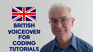 I will provide a British English voiceover for your coding tutorials