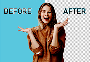 I will do 10 images background removal within 24 hours