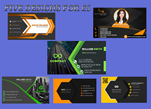 I will design business card with QR code
