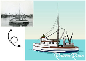 I will draw artistic rendering or vector tracing from your photo