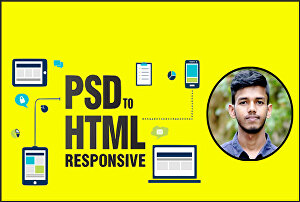 I will convert PSD to HTML, figma, sketch to HTML, CSS responsive bootstrap5