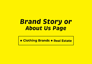 I will Write 100 words Brand Story